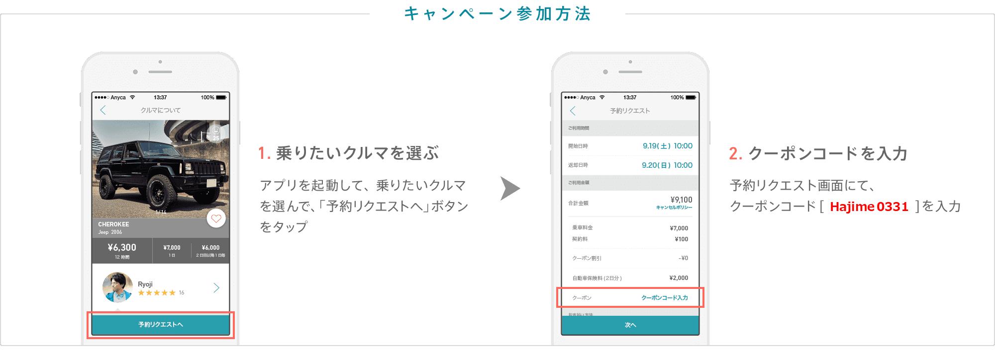 【最新版】エニカ(Anyca)当サイト限定の招待コード・クーポン配布中!オーナーにもドライバーにもメリットがある招待コードです。