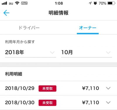 【2018年10月】エニカ(Anyca)収入実績公開|エニカで儲けて副収入。dカーシェア実績