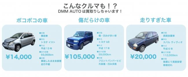 DMM AUTO(DMMオート)査定額は実際どうよ?他の買取業者との違いを検証! DMM AUTO(DMMオート)では、ボコボコの車でも査定額がつきます